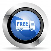 picture of free-trade  - free delivery icon transport sign original modern design for web and mobile app on white background  - JPG