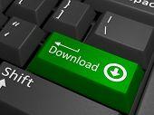 picture of keyboard  - Download key on keyboard  - JPG