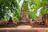 image of gautama buddha  - Buddha statue in Wat Mahathat - JPG