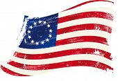 picture of betsy ross  - Betsy Ross flag grunge - JPG