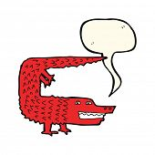 image of crocodiles  - cartoon crocodile with speech bubble - JPG