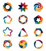 picture of interlock  - Logo templates set - JPG