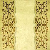 foto of celtic  - Old paper with celtic pattern  - JPG