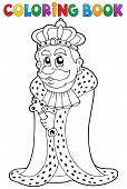 stock photo of sceptre  - Coloring book king theme 1  - JPG