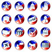 picture of midterm  - Set of glossy round buttons about politics - JPG