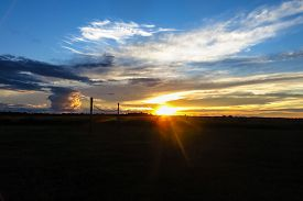 foto of pampa  - Dusk in the Bolivian Amazon - JPG