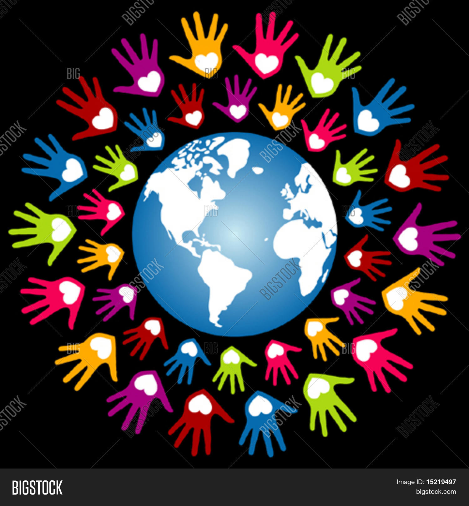 colorful world peace unity vector vector amp photo bigstock