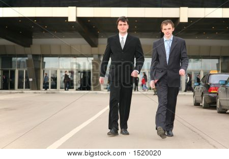 Walking Businessmen
