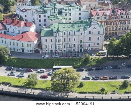 panorama of Vyborg from the lookout tower in Vyborg Russia