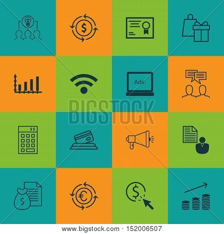 Set Of 16 Universal Editable Icons For Education, Airport And Computer Hardware Topics. Includes Ico