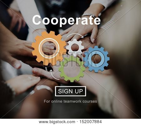 Cooperate Support Collaboration Partnership Concept
