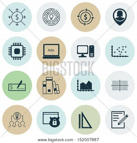 Set Of 16 Universal Editable Icons For Travel, Computer Hardware And Human Resources Topics. Include