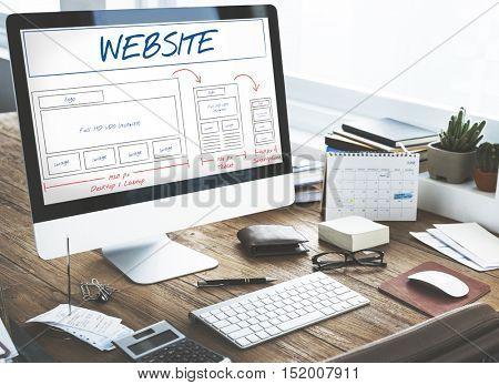 Web Layout Content Coding Template Data Design Concept