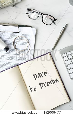 Daily Planner Dream Big Concept