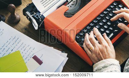 Typewriter Writer Typing Alphabet Letter Message Concept