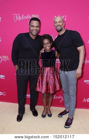 LOS ANGELES - OCT 10:  Anthony Anderson, Marsai Martin, Common at the