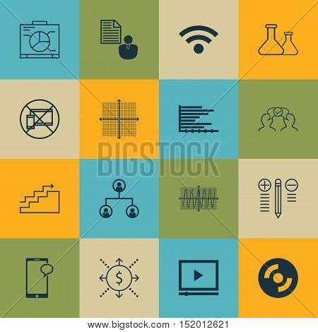 Set Of 16 Universal Editable Icons For Seo, Human Resources And Project Management Topics. Includes