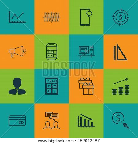 Set Of 16 Universal Editable Icons For Human Resources, Airport And Education Topics. Includes Icons
