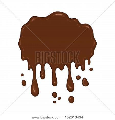 Vector Illustration - Brown Splash Liquid.