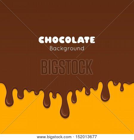 Background Of Flowing Dark Chocolate.