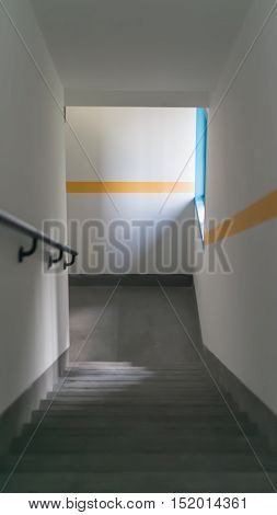 some stairs in a building vertical composition