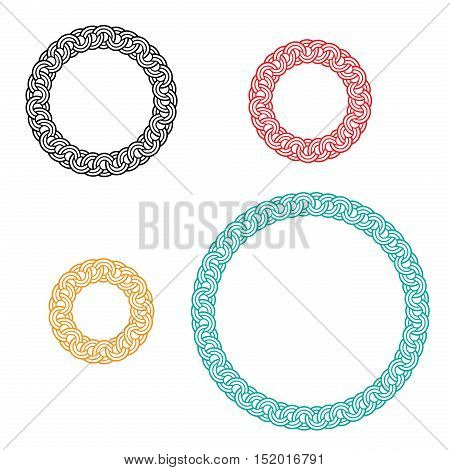 circle window and photo frame with ivy boarder vector