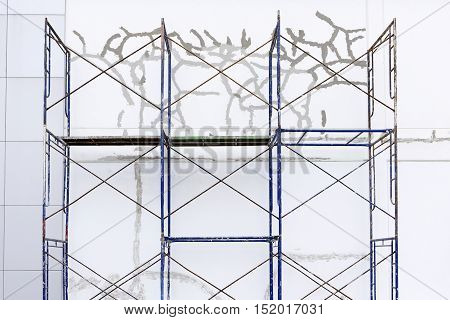 The folding for repiar the concrete wall crack