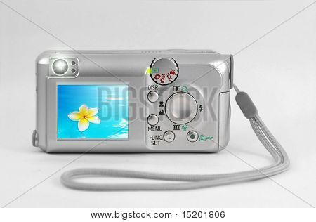 A photography of a lcd display on a cam