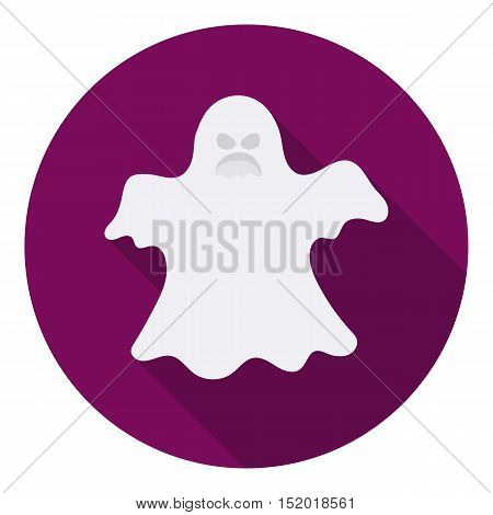 Ghost icon in flat style isolated on white background. Black and white magic symbol vector illustration.