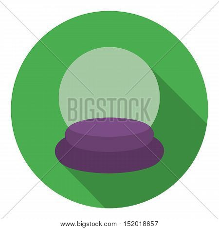 Crystal ball icon in flat style isolated on white background. Black and white magic symbol vector illustration.