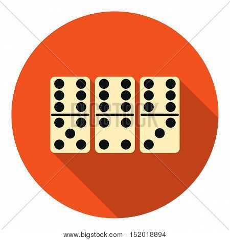 Domino icon in flat style isolated on white background. Board games symbol vector illustration.