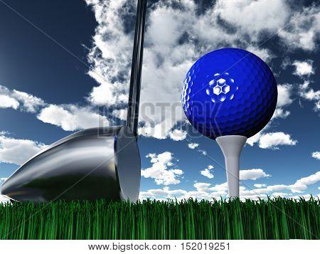 Golf Day 3D Render