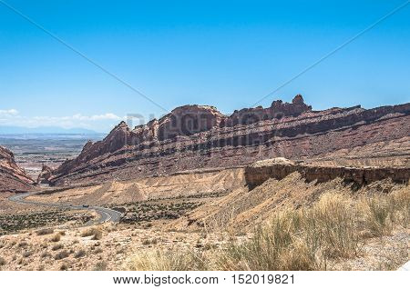 View of Spotted Wolf Canyon from Interstate 70, Utah