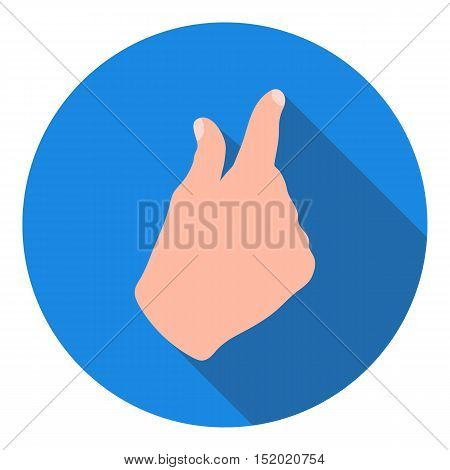 Zoom in gesture icon in flat style isolated on white background. Hand gestures symbol vector illustration.