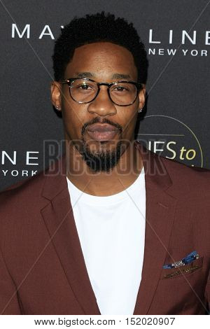 LOS ANGELES - OCT 13:  Aaron Jennings at the People's One To Watch Party at E.P. & L.P on October 13, 2016 in Los Angeles, CA