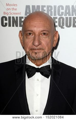 LOS ANGELES - OCT 14:  Sir Ben Kingsley at the 2016 American Cinematheque Awards at Beverly Hilton Hotel on October 14, 2016 in Beverly Hills, CA