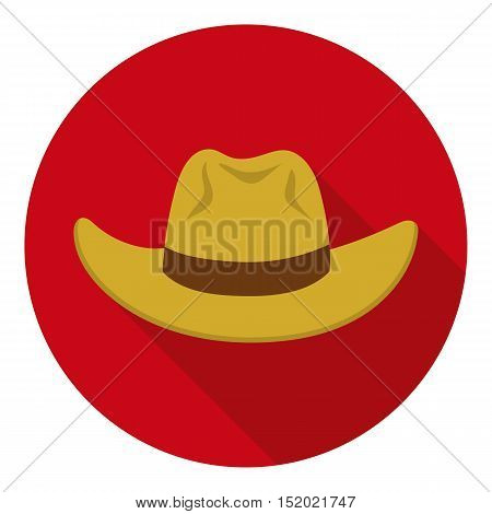 Cowboy hat icon in flat style isolated on white background. Hats symbol vector illustration.