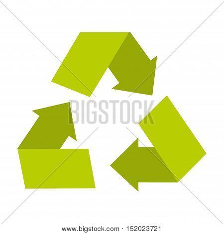 recycle arrows ecology symbol vector illustration design