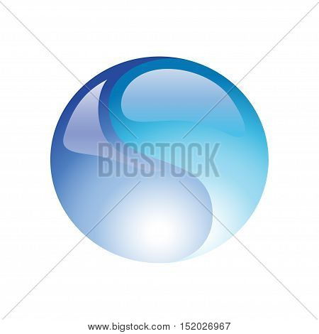 Water ball element icon on a white background. Vector illustration