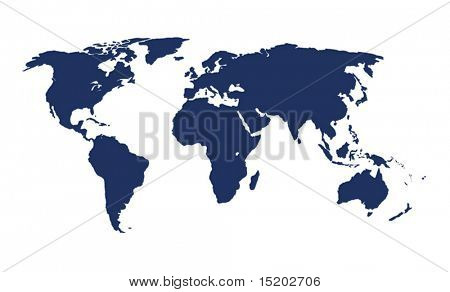 world map vector illustration