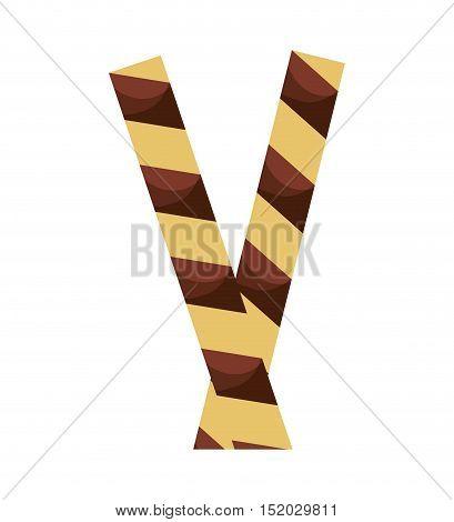 sweet wafers straws icon vector illustration design