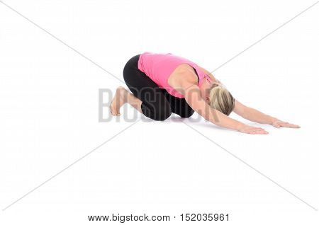 Downward Facing Bow Over White Background