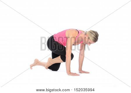 Woman Performing Abdominal Muscle Exercises