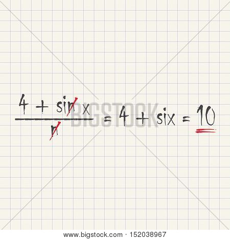 Mathematical equations - funny inscription template design