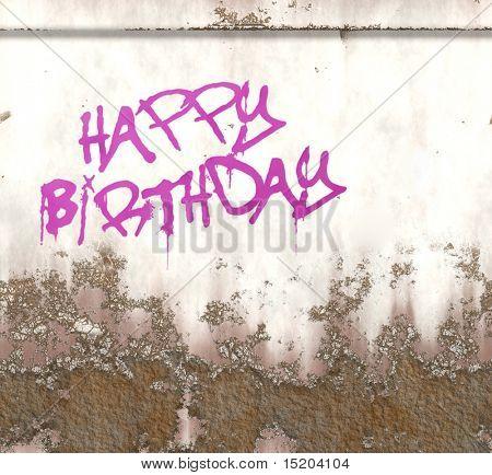 happy birthday graffiti