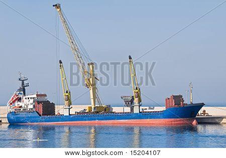 Mercantile ship.