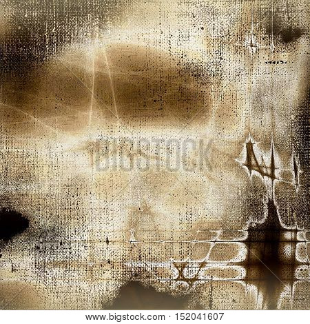 Distressed texture, faded grunge background or backdrop. With different color patterns: yellow (beige); brown; gray; black; white