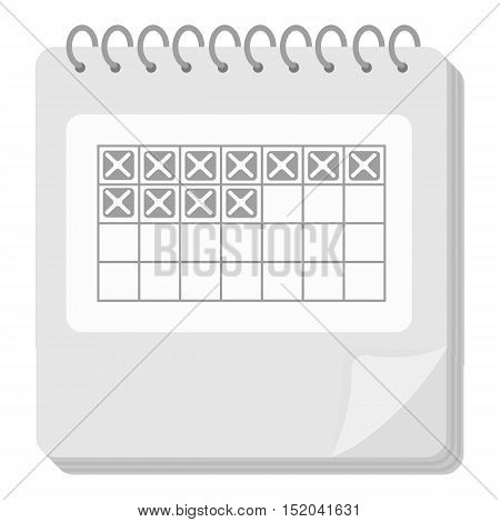 Calendar icon in monochrome style isolated on white background. Pregnancy symbol vector illustration.