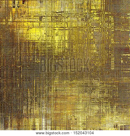 Scratched grunge background or spotted vintage texture. With different color patterns: yellow (beige); brown; gray