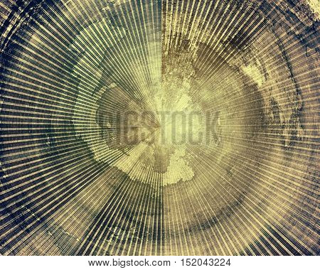 Aged vintage background with weathered texture, grunge design elements and different color patterns: yellow (beige); brown; gray; blue